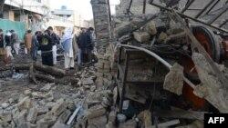 Պակիստան - Զույգ պայթյունների պատճառած ավերածությունը Քուեթա քաղաքում, 11-ը հունվարի, 2013թ.