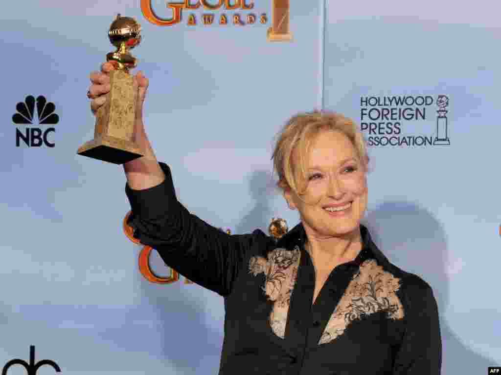 بهترین بازیگر نقش اول زن: مریل استریپ برای نقش آفرینی در «بانوی آهنین»