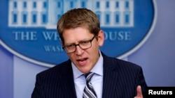 U.S. White House spokesman Jay Carney