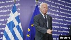 Тимчасовий прем'єр-міністр Греції Панайотіс Пікраменос на саміті ЄС у Брюсселі, 23 травня 2012 року