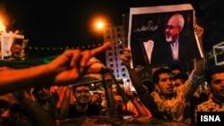 İranlılar nüvə sazişinin imzalanmasını bayram edirlər, arxiv fotosu