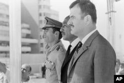 (از راست) اسد، سادات و قذافی؛ این هر سه سوداهایی فراتر از مرزهای کشورشان در سر میپروراندند
