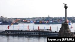 Генеральная репетиция военно-морского парада, посвященного Дню ВМФ России. Севастополь, 27 июля 2017 года