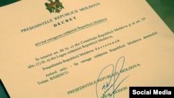 Decretul președintelui Igor Dodon, din ianuarie 2017
