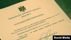 Moldovan President Igor Dodon's decree for revoking the citizenship of former Romanian president Traian Basescu