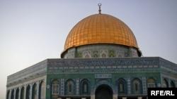 قبة الصخره در محوطه مسجد الاقصی در بیتالمقدس