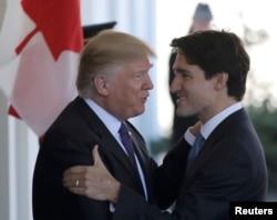 Donald Trump și Justin Trudeau, la Casa Albă de la Washington