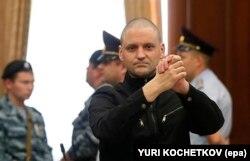 Сергей Удальцов в суде, в 2014 году