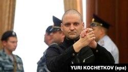 Serghei Udalțsov la o audiere a tribunalului în 2014