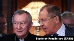 Кардинал Пьетро Паролин и глава МИД РФ Сергей Лавров