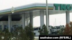 Автозаправочная станция в Туркменистане.