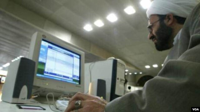 "The Basij force claims to have mobilized university instructors, students, and clerics as part of its ""cyberarmy."" (file photo)"