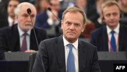 "European Council President Donald Tusk of Poland told leaders at the Rome summit that he had lived half his life behind the Iron Curtain: ""Back then, that really was a two-speed Europe."""