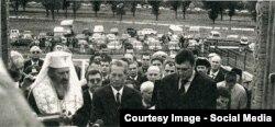 Regele Mihai la ceremonia de deschidere a Cimitirului eroilor de la Țiganca