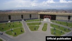 Armenia -- The Ministry of Defense building in Yerevan.