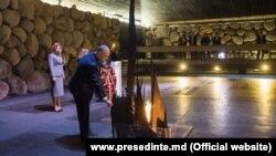 Președintele Igor Dodon la memorialul Holocaustului Yad Vashem, 17 decembrie 2018