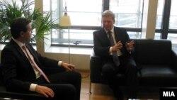 Средба на Министерот за надвореши работи Никола Попоски со еврокомесарот за проширување Штефан Филе, Брисел, Белгија.