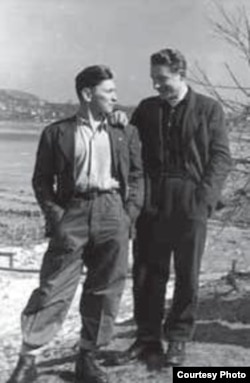 Вітаўт Кіпель і Ян Запруднік, Міхельсдорф, 1949