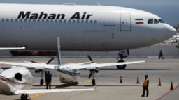 Самолет A340-600 иранской авиакомпании Mahan Air в международном аэропорту им. Симона Боливара недалеко от Каракаса. 8 апреля 2020 года