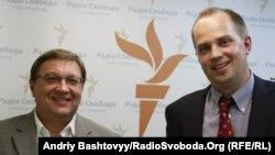 Сергій Євтушенко (праворуч) та Віктор Суслов