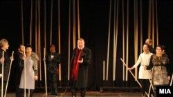 """""""Кралот Лир"""" во режија на Ѕвезда Ангеловска."""