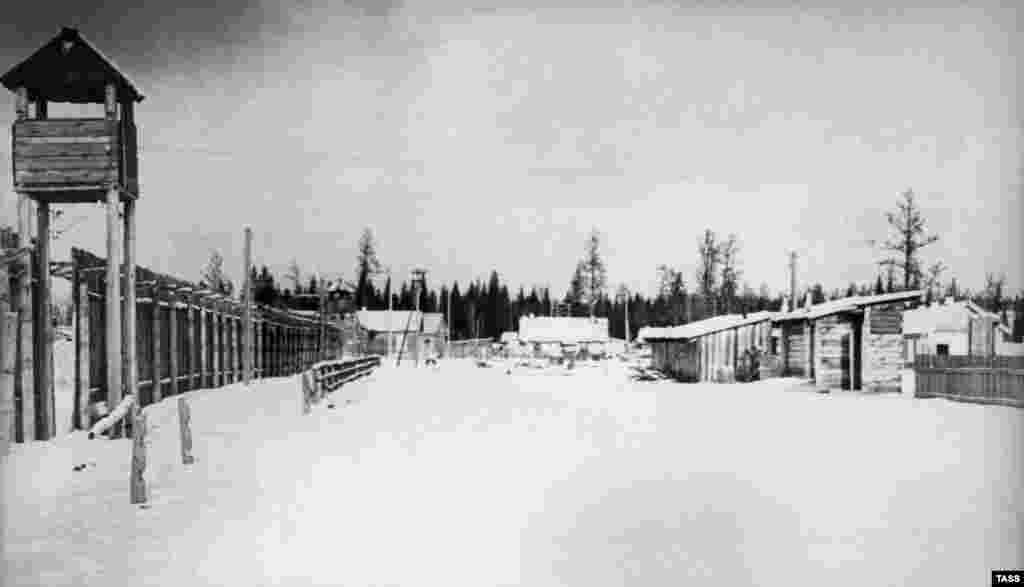 În lagărul de muncă Nr. 7 de la Ozerni, în 1951.
