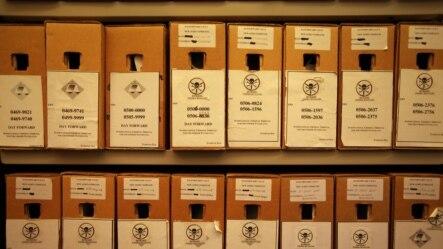 Kutije sa dokaznim materijalom za suđenja u Haškom tribunalu