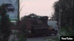 """Бук, из которого, предположительно, был сбит """"Боинг"""", в селе Краснодон под Донецком"""
