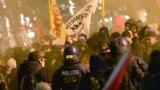 Demonstrație Pegida la Frankfurt am Main