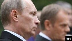 Президент Росії Володимир Путін та колишній прем'єр-міністр Польщі Дональд Туск