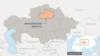 Акмолинская область на карте Казахстана.