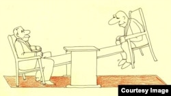 Şerif, «Səmimi şöhbət», karikatura