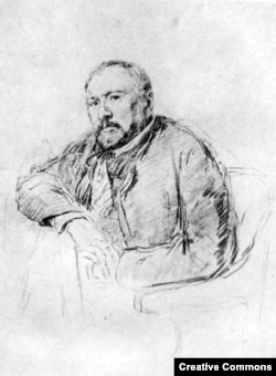 Николай Лесков. Рисунок Ильи Репина, 1888–1889