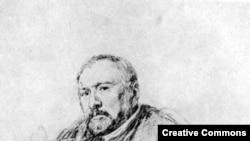 Н. С. Лесков. Рисунок И. Е. Репина, 1888-89 гг., карандаш