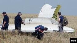 Pamje gjatë hetimit të shkaqeve, që kanë rezultuar me rrëzim të aeroplanit.