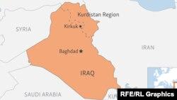 Ирак пен оның Күрдістан автономиялық аймағының картадағы орны (Көрнекі сурет).