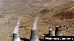 Armenia -- Cooling towers of the Metsamor Nuclear Power Plant, 2007