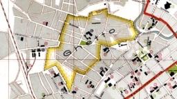 Менскае гета на нямецкай мапе