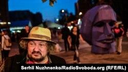 Влад Троїцький під час «Гогольфесту» на арт-заводі «Платформа» в Києві, вересень 2016 року