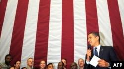 Presidenti Barak Obama gjatë vizitës në Irak