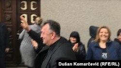 Milutin Jeličić Jutka stiže na suđenje u Brusu