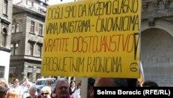 Protest prosvjetnih radnika, Sarajevo, maj 2013.