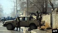 Сотрудники афганских сил безопасности