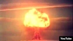 Алғашқы сутегі сынақ бомбасы. Семей полигоны. Скриншот Ютуб порталынан алынды.
