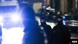 Belgian police block a street in the eastern city of Verviers during an antiterror operation on January 15.