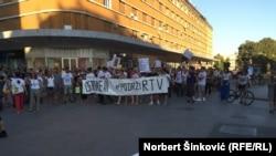 Protest podrške RTV, Novi Sad, 4. jul, 2016. godine