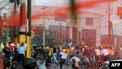 Разгон демонстрации сторонников бывшего президента в столице Гонудраса
