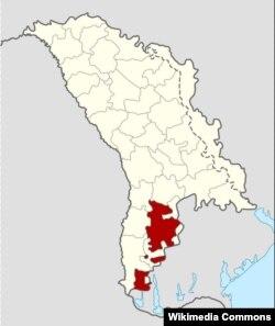 Молдовада Гагауз автономиясе өлеше кызыл төс белән