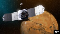 Marsın atmosferinə dair NASA alimlərinin konsepsiya rəsmlərindən biri.
