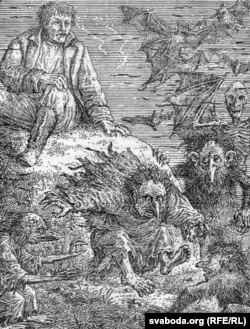 Ілюстрацыя да выданьня кнігі Баршчэўскага. Малюнак В.Славука